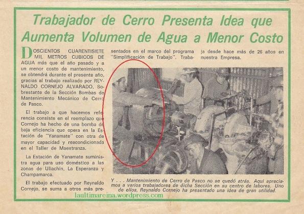 """Publicación aparecida en el """"Serranito"""" revista de la empresa minera Centromín Perú (Sin fecha)"""